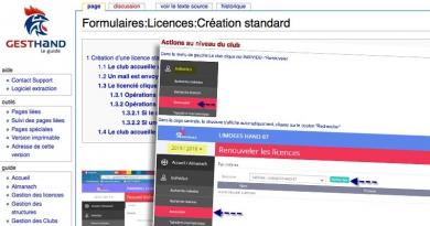 Affiliation, réaffiliation et gestion des licences
