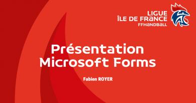 """Ligue Île-de-France – Vidéo consacrée à l'outil microsoft """"Forms"""""""