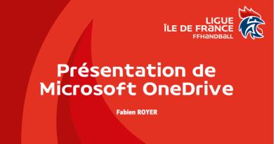 """Vidéo consacrée à l'outil microsoft """"OneDrive"""""""